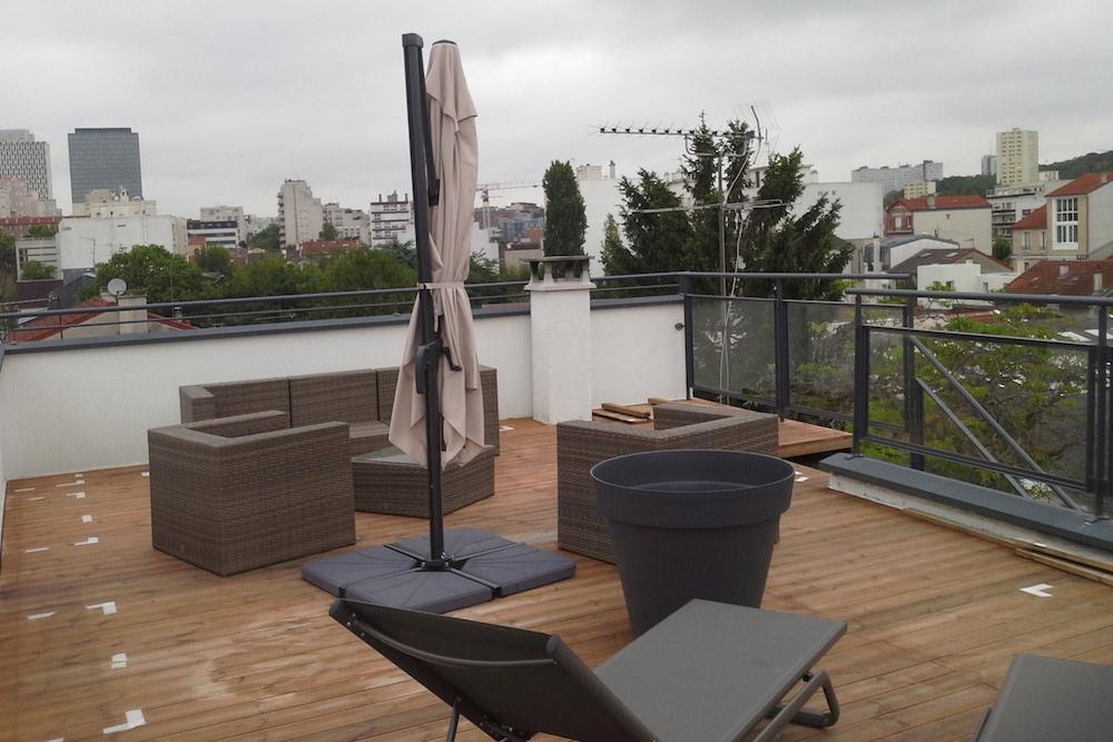 Aménagement d\'un toit terrasse à Montreuil 2 - Jardinier ...