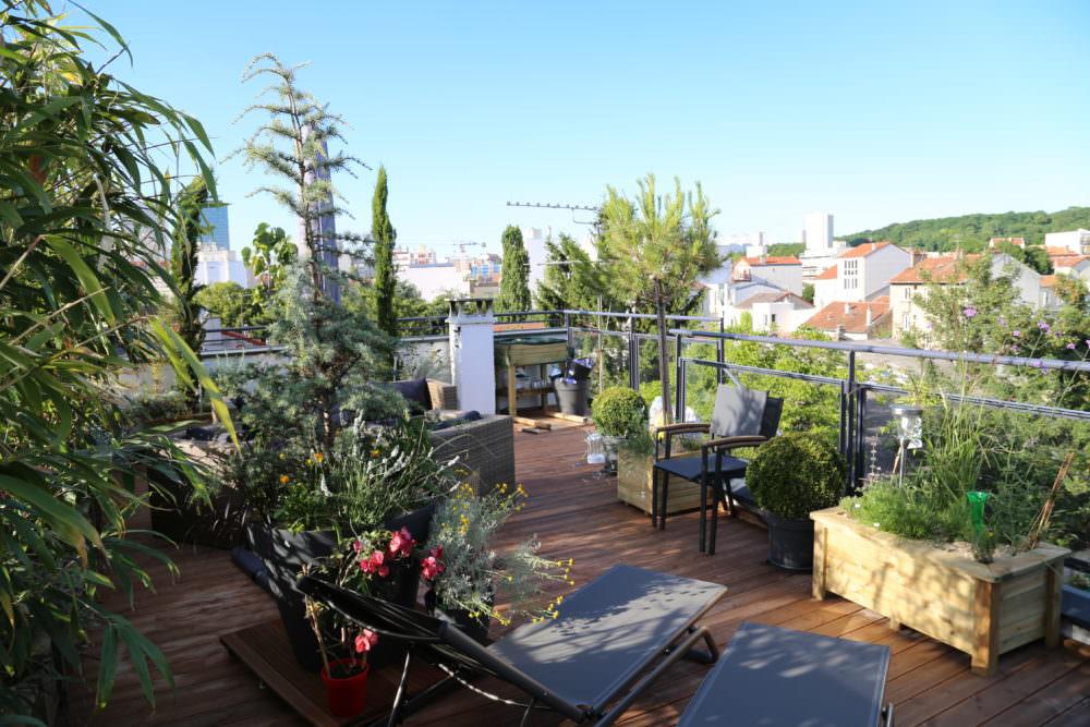 Aménagement d\'un toit terrasse à Montreuil 7 - Jardinier ...